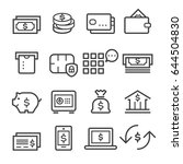 banking thin line icons | Shutterstock .eps vector #644504830