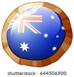 flag of australia on round... | Shutterstock .eps vector #644506900