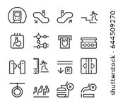 subway thin line icons | Shutterstock .eps vector #644509270