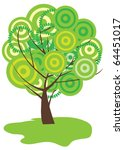 vector abstract tree | Shutterstock .eps vector #64451017