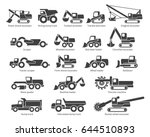 construction machinery icons...   Shutterstock .eps vector #644510893