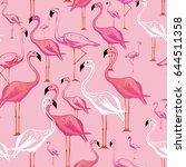 flamingo seamless pattern....   Shutterstock .eps vector #644511358