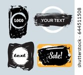 vector quote boxes collection.... | Shutterstock .eps vector #644511508