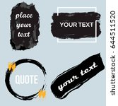 vector quote boxes collection.... | Shutterstock .eps vector #644511520