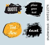 vector quote boxes collection.... | Shutterstock .eps vector #644511574
