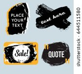 vector quote boxes collection.... | Shutterstock .eps vector #644511580