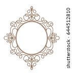 the frame is elegant.brown on... | Shutterstock .eps vector #644512810