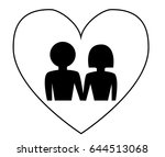 couple icon   illustration... | Shutterstock .eps vector #644513068