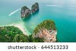 krabi railay beach ko rang nok...   Shutterstock . vector #644513233