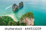 krabi railay beach ko rang nok...   Shutterstock . vector #644513239
