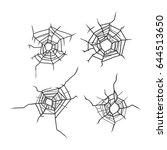 bullet hole in glass  vector | Shutterstock .eps vector #644513650