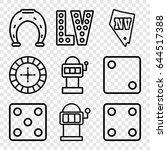 lucky icons set. set of 9 lucky ...   Shutterstock .eps vector #644517388