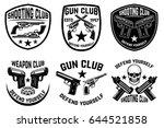 set of weapon club  gun shop...   Shutterstock .eps vector #644521858