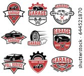 set of vintage car service... | Shutterstock .eps vector #644521870