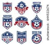 set of american soccer team...   Shutterstock .eps vector #644522674