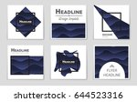 abstract vector layout... | Shutterstock .eps vector #644523316