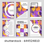 abstract vector layout... | Shutterstock .eps vector #644524810