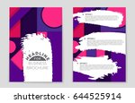abstract vector layout... | Shutterstock .eps vector #644525914