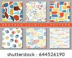 vector set of seamless pattern...   Shutterstock .eps vector #644526190