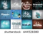 ramadan kareem. collection of... | Shutterstock .eps vector #644528380