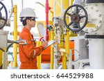 offshore oil and gas industry ... | Shutterstock . vector #644529988