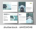 set of business templates for... | Shutterstock .eps vector #644534548
