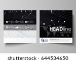 business templates for square... | Shutterstock .eps vector #644534650