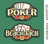 vector logo poker and black...