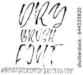 hand drawn dry brush font.... | Shutterstock .eps vector #644535820