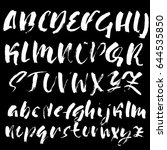 hand drawn dry brush font.... | Shutterstock .eps vector #644535850