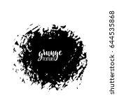 ink vector brush strokes.... | Shutterstock .eps vector #644535868