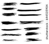 ink vector brush strokes set.... | Shutterstock .eps vector #644535904