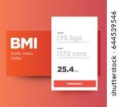body mass index bmi calculator... | Shutterstock .eps vector #644539546