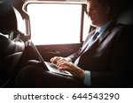 mature businessman working with ... | Shutterstock . vector #644543290