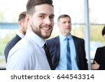 happy smart business man with... | Shutterstock . vector #644543314