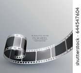 film strip vector for camera... | Shutterstock .eps vector #644547604