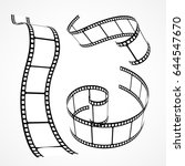 3d vector film strip collection | Shutterstock .eps vector #644547670