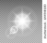 sunlight special lens flare... | Shutterstock .eps vector #644548183
