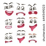 funny smileys faces isolated... | Shutterstock .eps vector #644549023