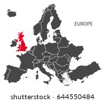 europe with countries map dark... | Shutterstock .eps vector #644550484