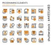 programming elements   thin... | Shutterstock .eps vector #644551483