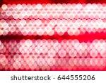 bokeh red background circular... | Shutterstock . vector #644555206