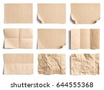 collection of recycled paper... | Shutterstock . vector #644555368
