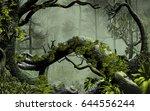 3d illustration of forest... | Shutterstock . vector #644556244