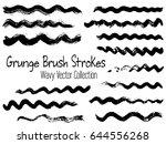 brush stroke wave vector... | Shutterstock .eps vector #644556268