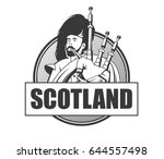 player of the great scottish... | Shutterstock .eps vector #644557498