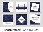 abstract vector layout... | Shutterstock .eps vector #644561224