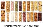 top view of various healthy... | Shutterstock . vector #644561500