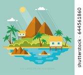 summer paradise ocean landscape.... | Shutterstock .eps vector #644561860