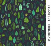 seamless pattern with colored... | Shutterstock .eps vector #644564464